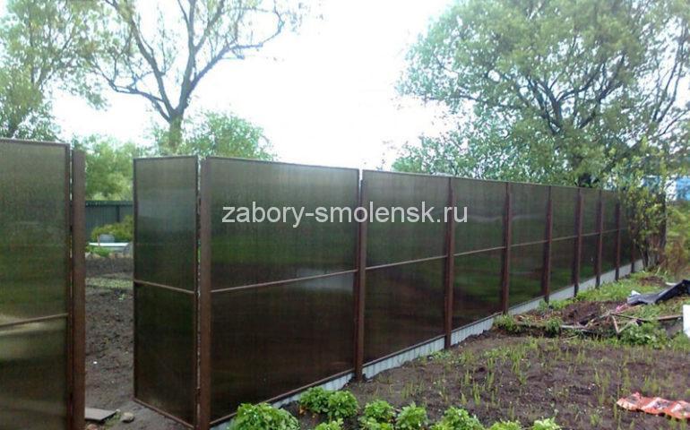 изготовление заборов из поликарбоната в Смоленске