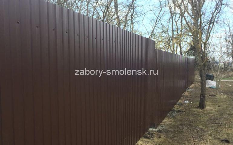 забор из профлиста в Смоленске